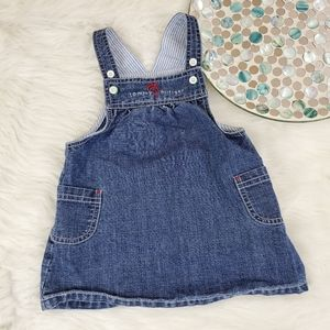 2003 Tommy Hilfiger Baby Bib Overall Dress